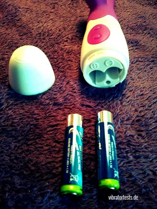 MOQQA Island Pink Batterienfach offen