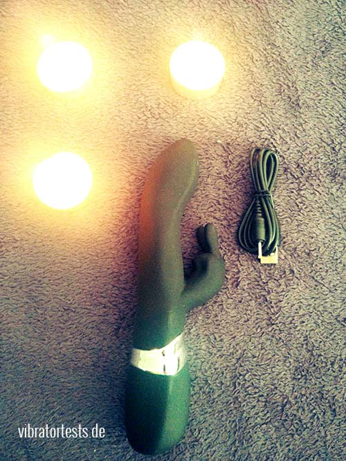 Tracey Cox Supersex Rabbit Vibrator und Ladekabel