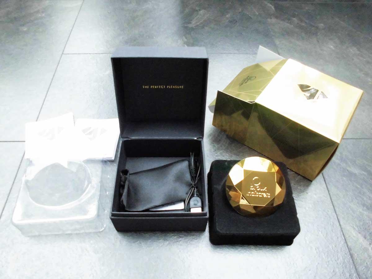 Dein ausgepackter Diamant mit Verpackung und Satin-Aufbewahrungsbeutel