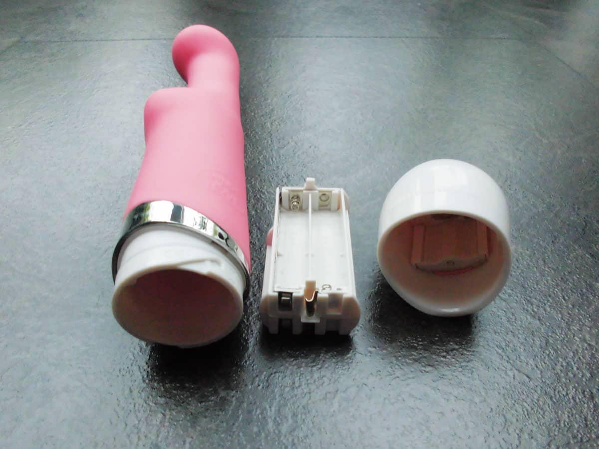 MINDS OF LOVE Effectus Dual Vibrator rose Batteriefach