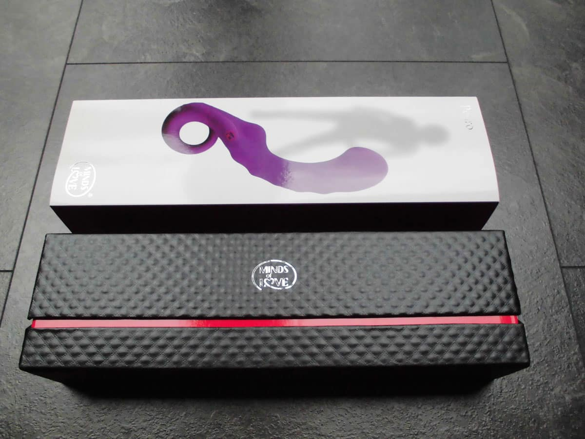 MINDS OF LOVE Pedro purple G-Punkt Vibrator innere Verpackung